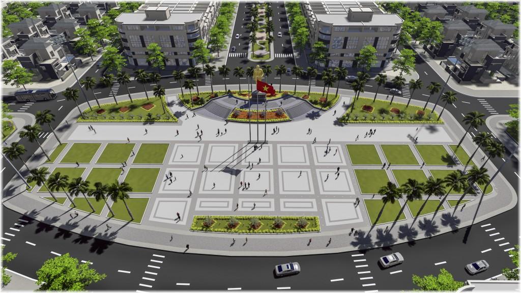 Quảng trường Tôn Đức Thắng – Điểm nhấn văn hóa tại trung tâm Khu đô thị, đem đến không gian vui chơi giải trí cho cư dân tại Golden city An Giang