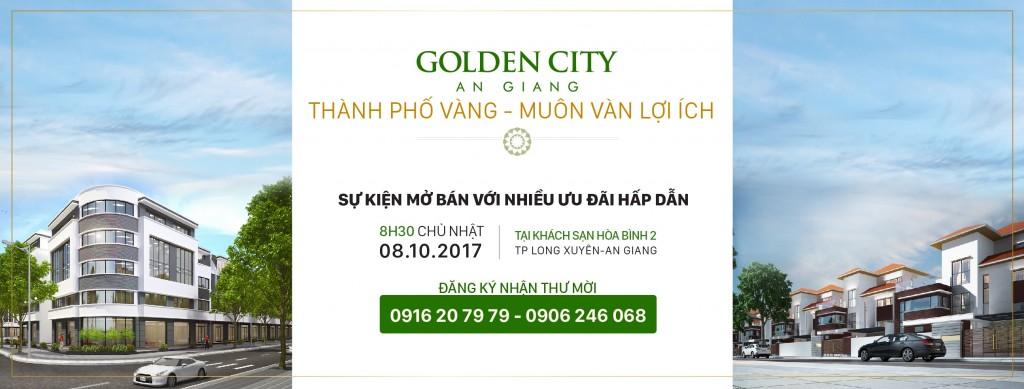 Sự kiện mở bán dự án Golden City An Giang với nhiều ưu đãi hấp dẫn.