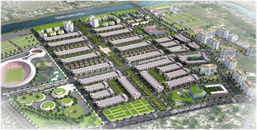 Golden City An Giang được bao bọc bởi dòng sông Long Xuyên thơ mộng, uốn lượn dọc theo chiều dài gần 1km của dự án.
