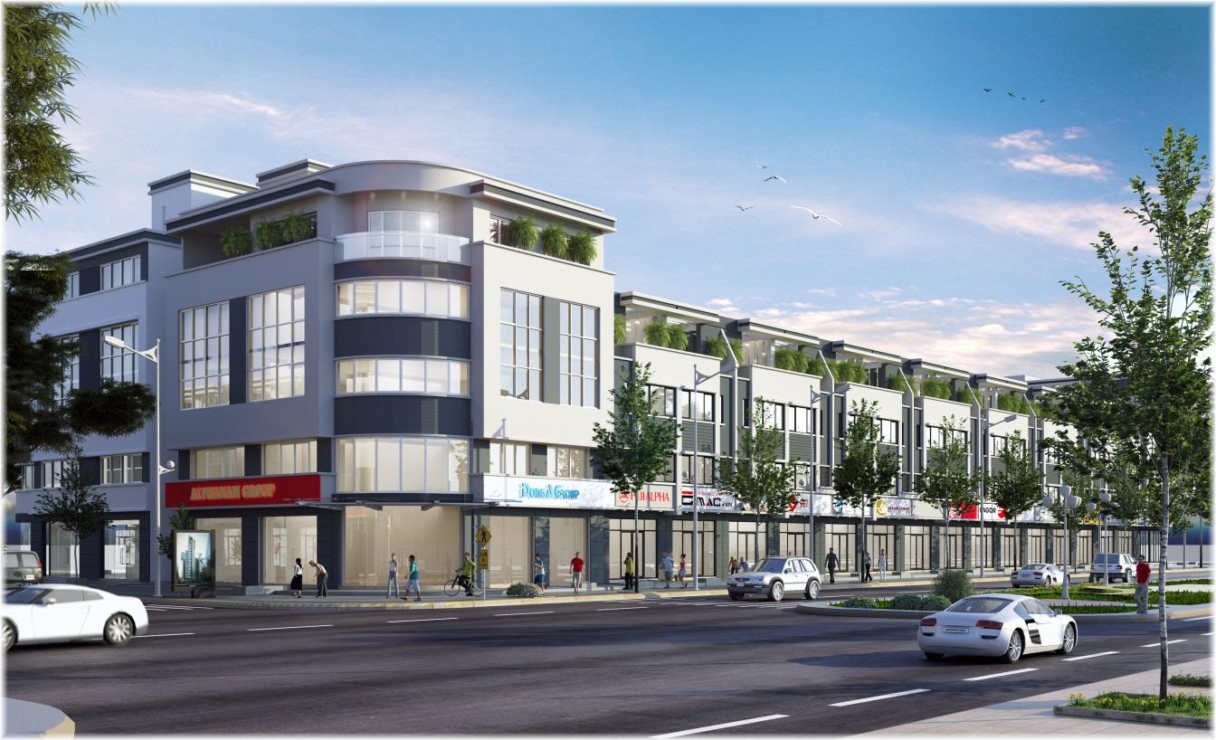 Mô hình nhà phố thương mại tại Golden City An Giang được xem là rất phù hợp để làm văn phòng cho thuê
